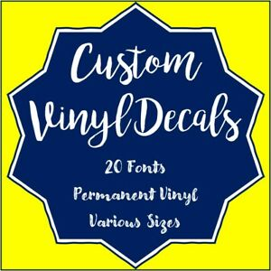 """1/"""" CUSTOM VINYL LETTERING Personalized up to 20 char"""
