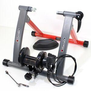 Fahrrad-ROLLENTRAINER-Magnetbremse-6-Stufen-Trainer-Schnellspanner-yx155-3G1r