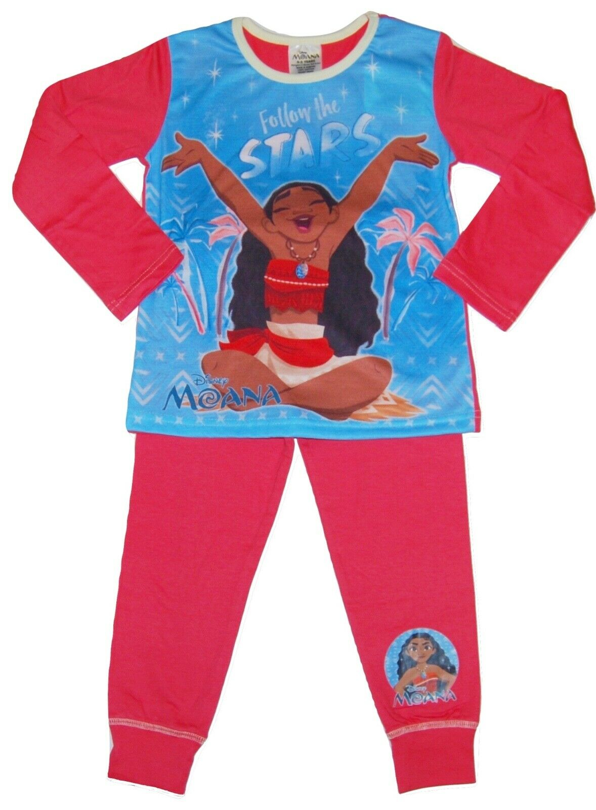 Disney Girls Moana Pyjamas Snuggle Fit