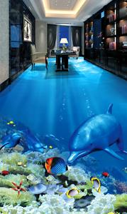 3D Sunshine Marine Fish 70 Floor WallPaper Murals Wall Print Decal 5D AU Lemon
