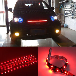 4stk wasserdicht 30cm 15 rot led lichtleiste streifen strip leuchtband 12v ebay. Black Bedroom Furniture Sets. Home Design Ideas