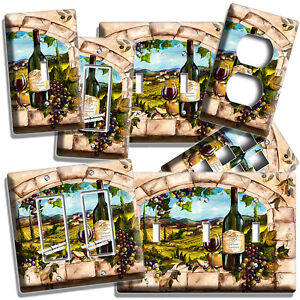Details About Tuscan Kitchen Window Vineyard Wine Grape Light Switch Outlet Wall Plates Decor
