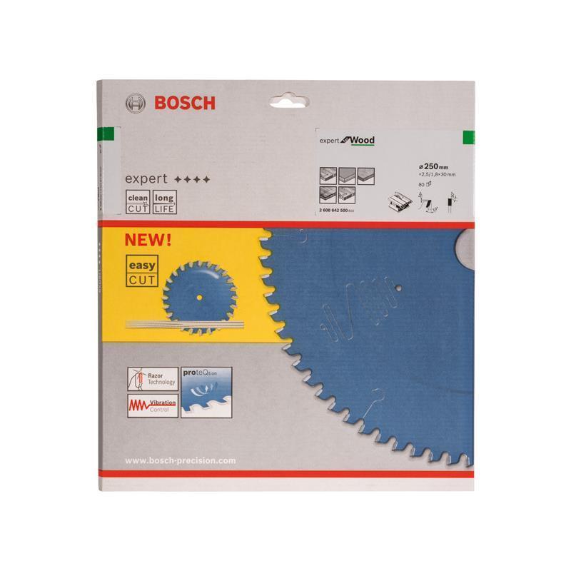 Bosch HM Sägeblatt Expert for Wood 250x30x2,5mm Z=80
