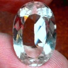 Natural Diamante Topacio Blanco Piedra Suelta (16.7 X 11.1 MM) gran Forma Oval