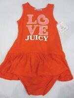 Juicy Couture Infant Baby Girls Orange Love Juicy 2pc Dress 18-24m