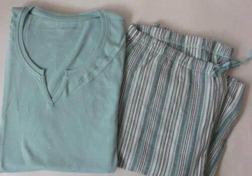 Neu 36,38,40,42,44  Lange Hose Flanell Baumwolle Damen Pyjama Schlafanzug Gr