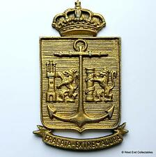 Fragata Extremadura F-75- Old Spanish Navy Ship Metal Tampion Plaque Badge Crest