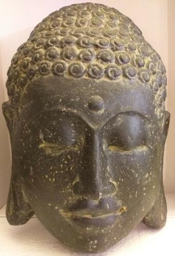 Steinfigur Kopf in Steinguss Buddha Shiva Deko Garten aus Bali ca 3200 gr.