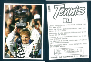 Jim-Courier-USA-Tennis-1992-Edizioni-Panini-MINT-n-31-Roland-Garros-Paris