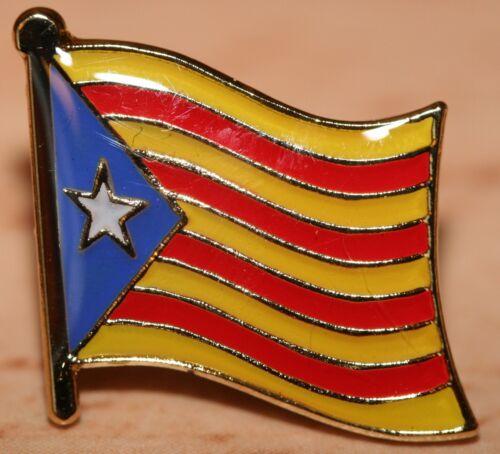 CATALONIA Spain Barcelona Catalonian Catalan Country Flag Metal Lapel Pin Badge