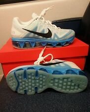 NIKE WOMEN AIR MAX  TAILWIND 7 WHT/BLUE LAGOON/BLK 683635-105  RUNNING SIZE: 6.5