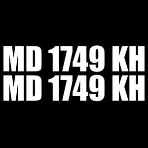 7514ae455356 Set of 2 Custom Boat Registration Numbers Letters Decal Vinyl 3