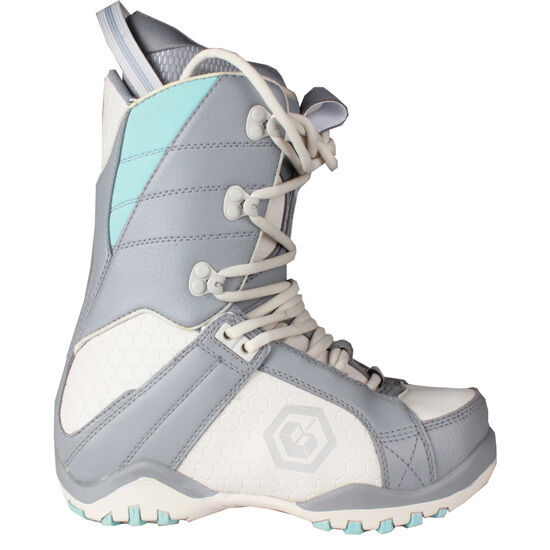 Youth Girls Womens LTD Classic Snowboard Leather Boots Grey bluee Size 6