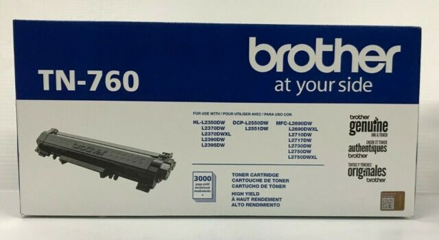 NEW GENUINE SEALED BROTHER TN-760 TONER CARTRIDGE High Yield Original