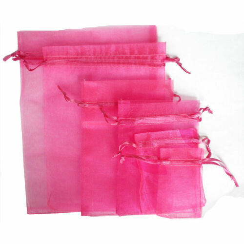 25//100Pcs 12 Color Luxury Organza Wedding Jewellery Gift Bags Favour Pouch Decor