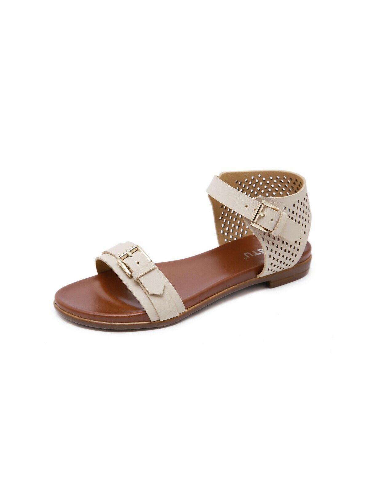 Sandales Élégantes Sabot Cuir Synthétique marron Beige Boho Bohemian cw234