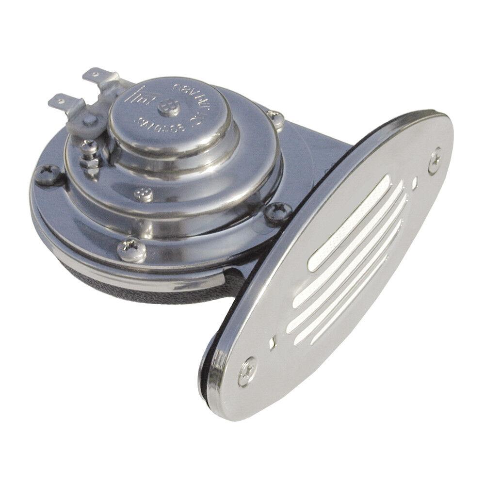 Ongaro Mini Doppel Drop-In Horn Edelstahl Grill Horn Niedrig 12V Niedrig Horn Pitch b58950