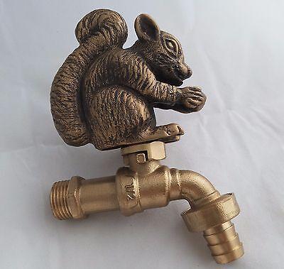 Architectural & Garden Vintage Brass Squirrel Garden Tap