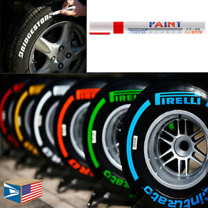 Image Is Loading Tire Lettering Red Paint Pen Whitewall Sidewall Letter