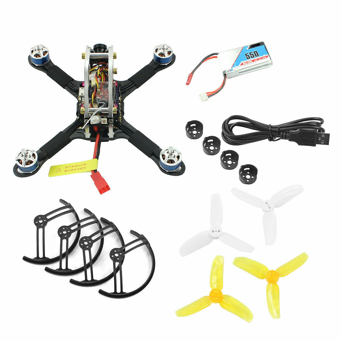 Flyegg 130 PNP FPV Racing Brushless Drone Quadcopter w  DSM2 XM FS-RX2A FM800 RX