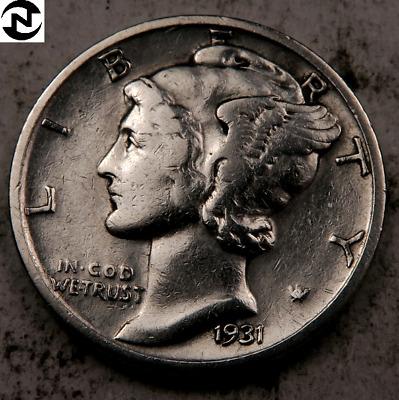 121720 1931 Year Set Mercury Silver Dimes 1931-P 1931-D 1931-S VG//F
