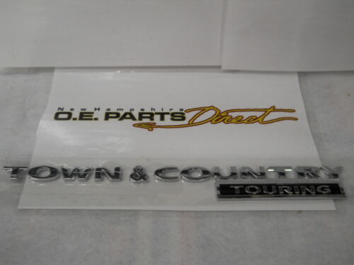 NEW MOPAR CHROME TOWN /& COUNTRY TOURING LIFTGATE NAMEPLATE EMBLEM OEM 5113423AC