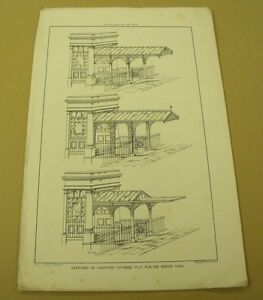 HENRY-COLE-039-S-HOUSE-Victorian-19th-Century-Antique-Penny-Black-Christmas-Card-etc