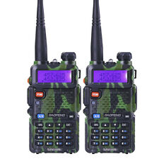 2PCS Baofeng UV-5R Walkie Talkie Set  2 Way Radio VHF UHF Dual Band Transmitter