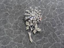 Clear Rhinestone Flower Design Pin/Brooch