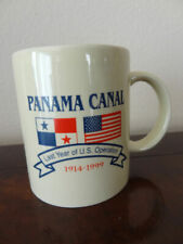 CANAL ZONE COLLEGE Coffee Beer Mug Panama Canal Zone CZ Black /& Gold Color