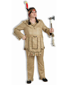 Image is loading Plus-Size-Male-Native-American-Chief-Indian-Halloween-  sc 1 st  eBay & Plus Size Male Native American Chief Indian Halloween Costume ...