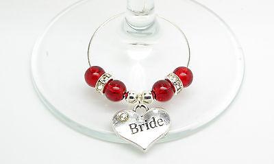 Romantico Red Crackle Personalizzato Matrimonio Famiglia Tavolo Partito Da Vino In Vetro Charms-mostra Il Titolo Originale