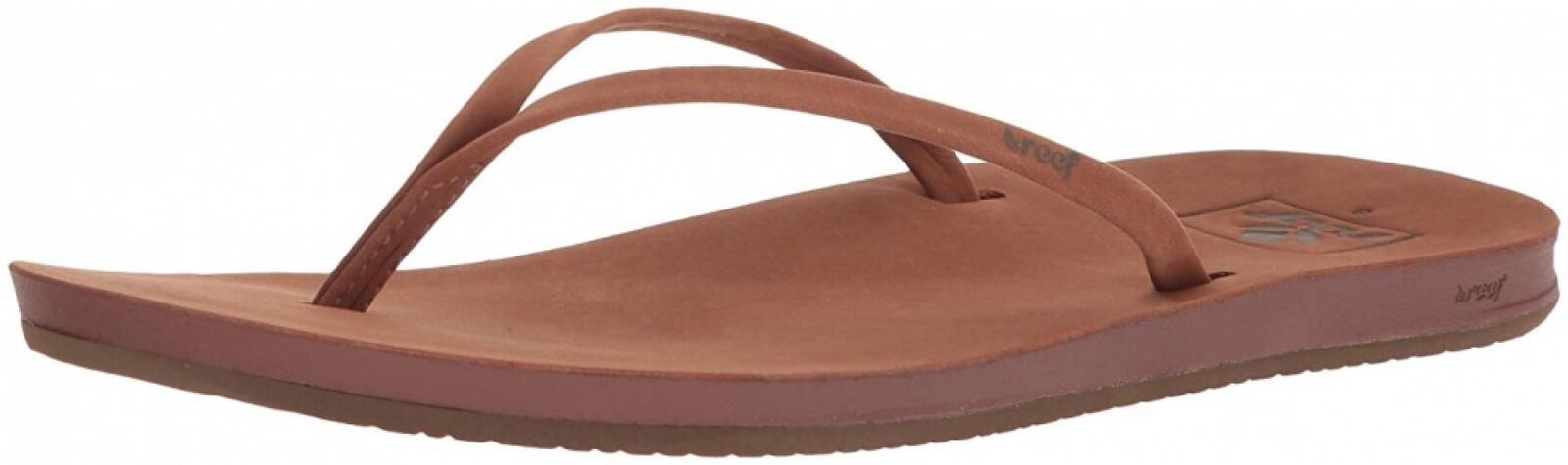 Reef Womens Sandals Slim Le   Leather Flip Flops for Women With Cushion...