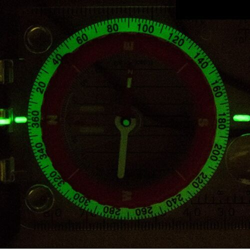 NatureHike Luminous Compass With Mirror LED Light Camping Hiking Survival Compas