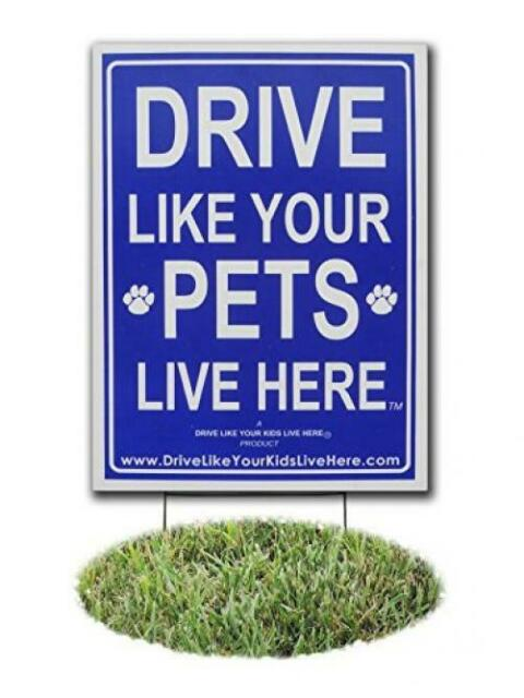 Slow Down Sign//Children at Play Remind Drive Like Your Kids Live Here Yard Sign