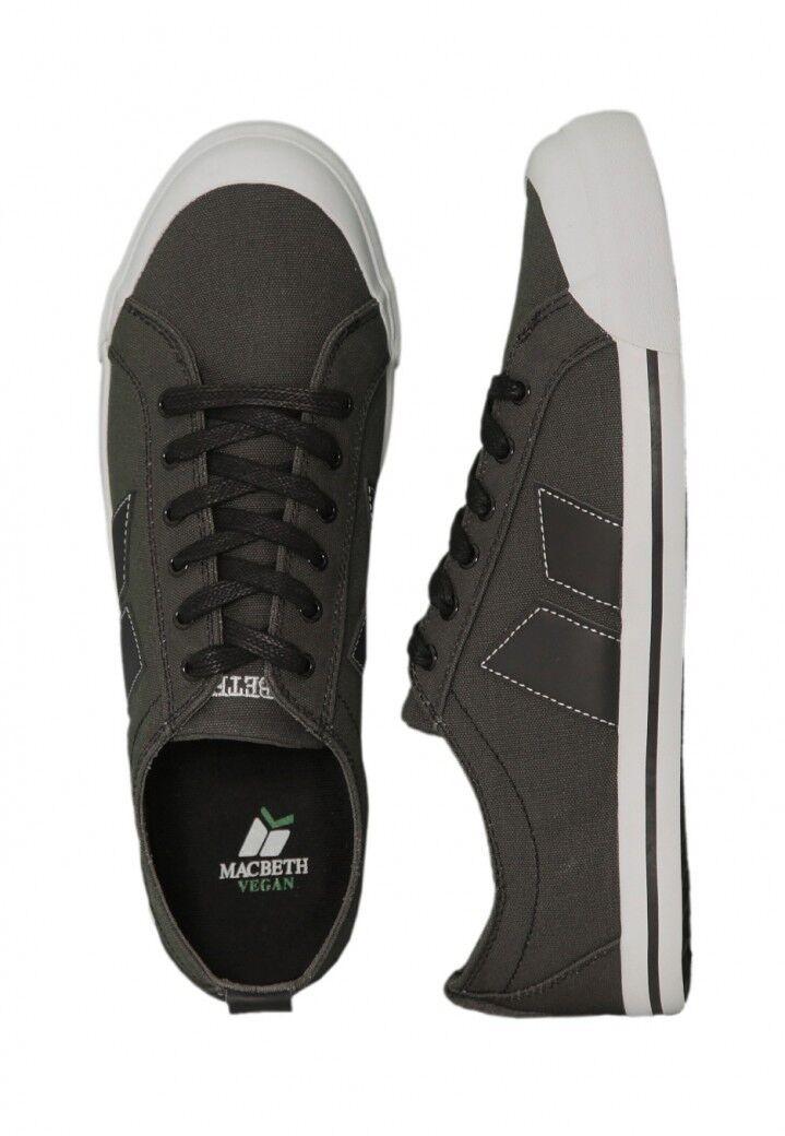 Macbeth The Eliot Trainer Shoes Dark Grey / Black Vegan Footwear sizes