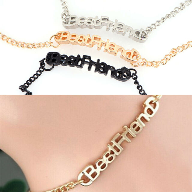 Letter Friendship Chain Bracelet Gift Best Friend Bracelet Anklet Chain Jewel vK
