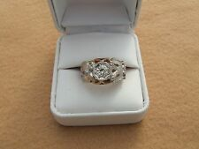 vintage mens 14k master mason 3/4 carat diamond ring size 8 1/2