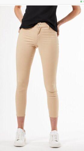 "Dorothy Perkins-Camel /""Frankie/"" Skinny Ankle Grazer Jeans-Taille 14R-Bnwt"