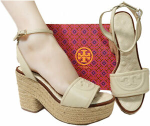 Tory-Burch-Marion-Beige-Quilted-Espadrille-Slingbacks-Mules-Sandals-Shoes-8-5