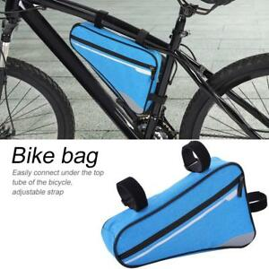Bicycle Front Frame Triangle Bag Cycling Bike Tube Large Pouch Saddle Pannier