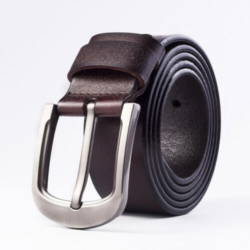 3 Color Alloy Pin Buckle Male Belts Fashion Cow Genuine Leather Vintage Style