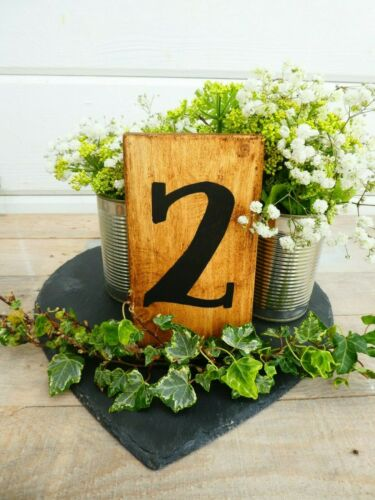 Custom Made Rustic Wedding Table Numbers Table Decoration Hand Crafted