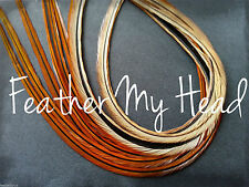 10 Whiting Natural  Light Brown Feather Hair Extension, Fly Tying, Hair Feathers