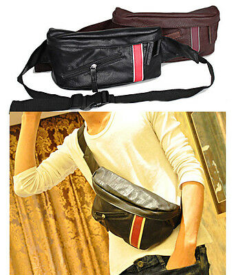 Men's Bag Backpack Unbalance Faux Leather Shoulder Sling Chest Hiking Fashion J