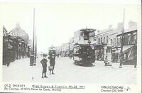 Hampshire Postcard - Old Shirley - High Street & Tramcar No. 32 1911  A3881