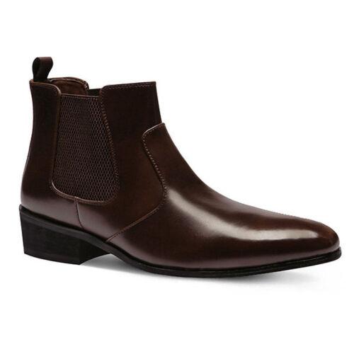 de tobillo formales de Mooda de genuino Botas hombre zapatos Chelsea de vestir cuero Mooi para FxOS7z