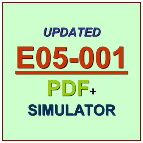 Dell EMC Storage and Management V3 Test E05-001 Exam QA SIM PDF+Simulator