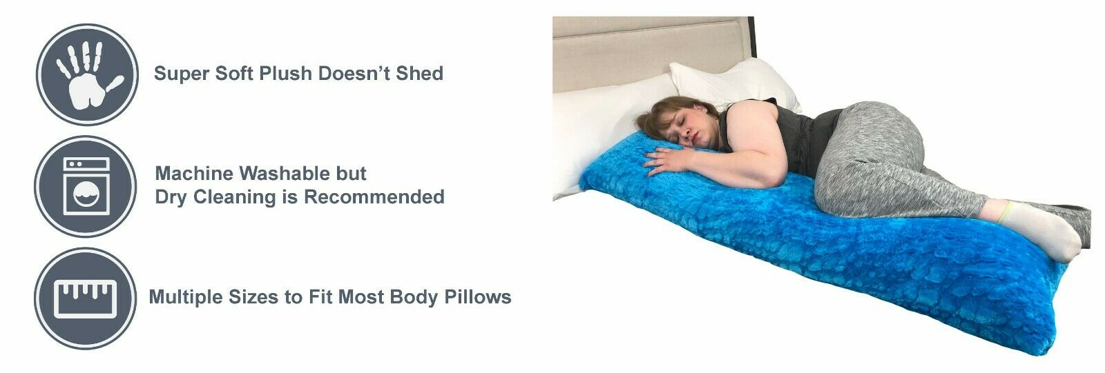 Pillowtex Plush Body Pillow Cover