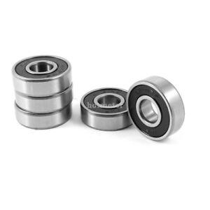 5 Pcs 6201RS 12 mm x 32 mm x 10 mm Double Shields Deep Groove Ball Wheel Bearing